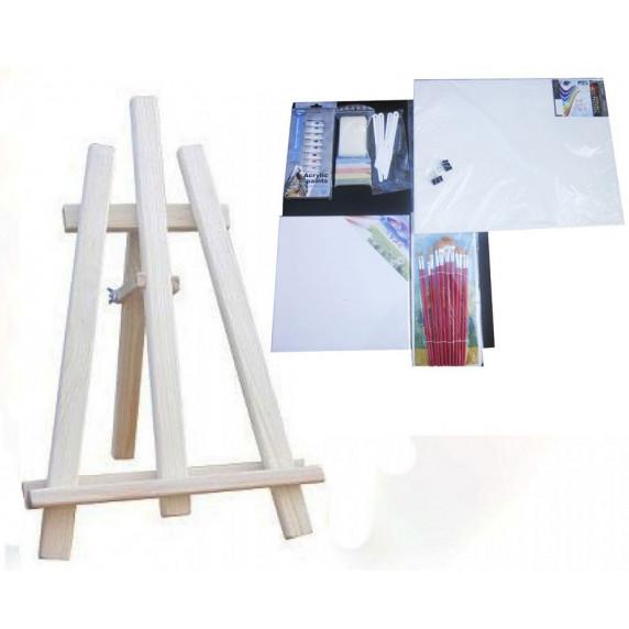Asztali festőállvány szett Inlea4Fun S60-3 - natúr