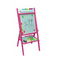 Inlea4Fun forgatható mágnes- és rajztábla -rózsaszín