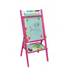 Inlea4Fun forgatható mágnes- és rajztábla -rózsaszín Előnézet