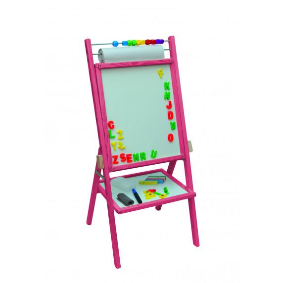 Forgatható mágnes- és rajztábla Inlea4Fun OPR - rózsaszín