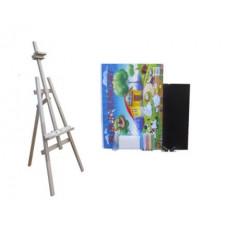 Festőállvány szett 160 cm Inlea4Fun S160-1 - natúr Előnézet