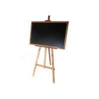Állványos rajztábla egyoldalas 180cm Inlea4fun - Barna
