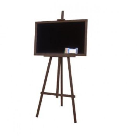 Állványos rajztábla egyoldalas 160cm Inlea4fun - Sötétbarna