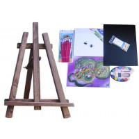 Asztali festőállvány szett Inlea4Fun S60 WYP2 PALISANDER - sötétbarna