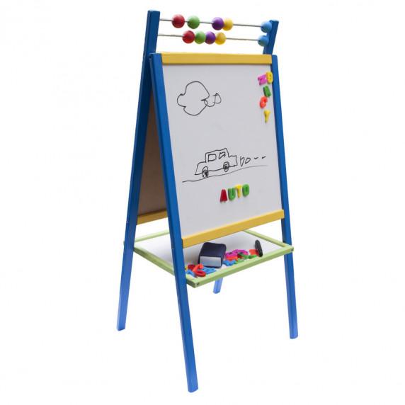 Inlea4Fun ABU állványos mágnes- és rajztábla - Kék