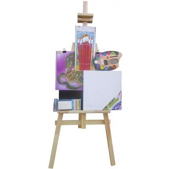 Festőállvány szett 130 cm Inlea4Fun S130-2 - natúr