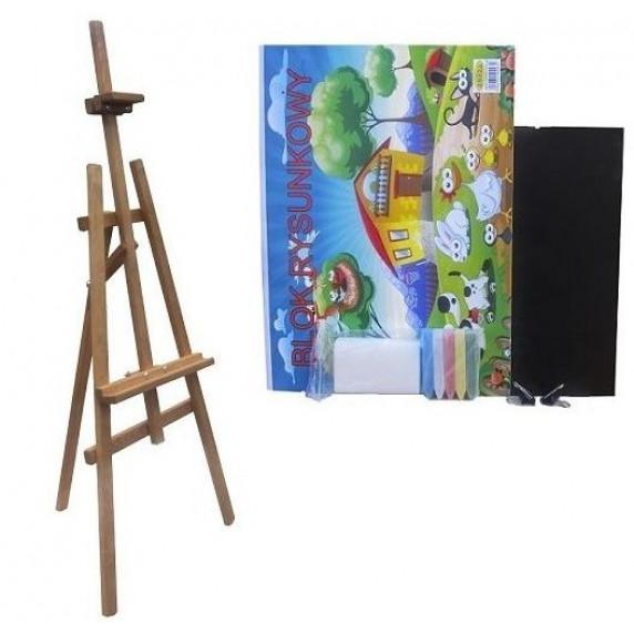Festőállvány szett 180 cm Inlea4Fun S180-WYP1 TEAK - barna