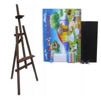 Festőállvány szett 130 cm Inlea4Fun S130-1 - sötétbarna