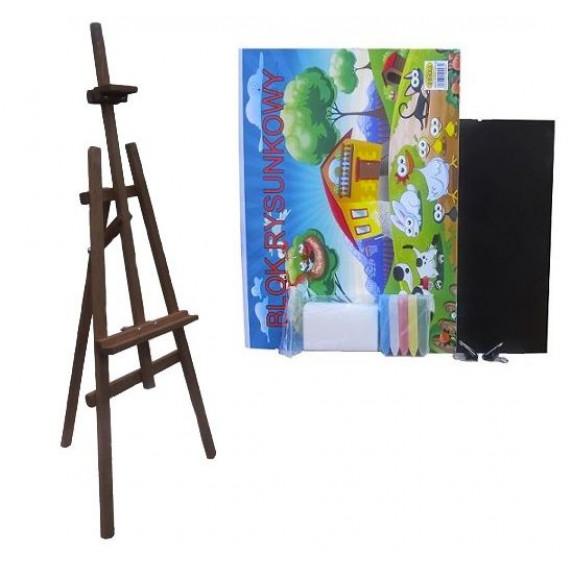 Festőállvány szett 180 cm Inlea4Fun S180-1 - sötétbarna