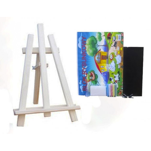 Asztali festőállvány szett Inlea4Fun S60 WYP1 NATUR - natúr
