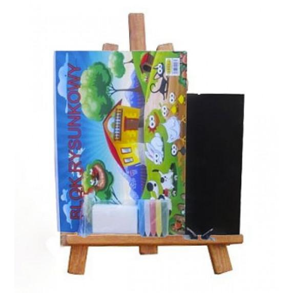 Asztali festőállvány szett Inlea4Fun - barna