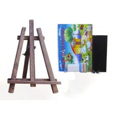 Inlea4Fun asztali festőállvány szett - sötét barna Előnézet