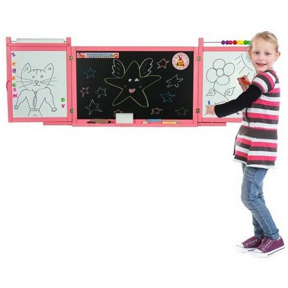 Inlea4Fun FIRST SCHOOL fali rajztábla - Rózsaszín