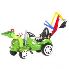 Inlea4Fun pedálos markoló és homlokrakodó zöld Előnézet