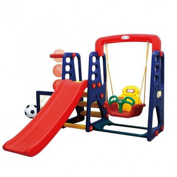 Inlea4fun kerti játszótér csúszdával és hintával 137 cm