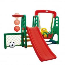 Inlea4fun kerti játszótér csúszdával és hintával 137 cm Előnézet