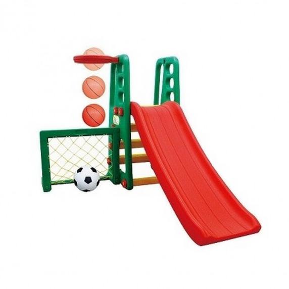Inlea4Fun kerti játszótér állítható csúszdával és sporteszközökkel 167 cm