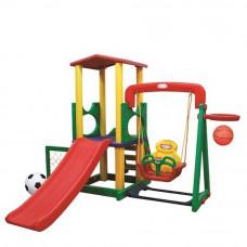 Inlea4Fun XL mega kerti játszótér csúszdával és hintával 244 cm Előnézet