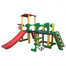 Inlea4Fun 2XL mega kerti játszótér csúszdával és sporteszközökkel 226 cm Előnézet