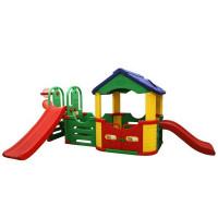 Inlea4Fun mega kerti játszótér csúszdával és kisházzal 214 cm
