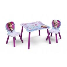 Gyerekasztal székekkel - Jégvarázs  Előnézet