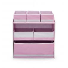 Játéktároló állvány - rózsaszín Előnézet