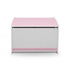 Játéktároló faláda - rózsaszín Előnézet