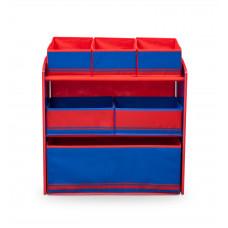 Játéktároló állvány - kék/ piros Előnézet
