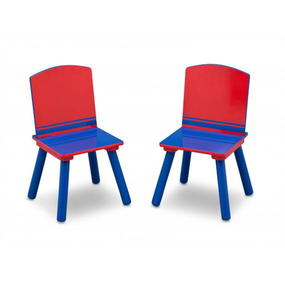 Gyerekasztal székekkel - kék/ piros