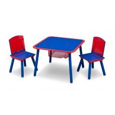 Gyerekasztal székekkel - kék/ piros Előnézet