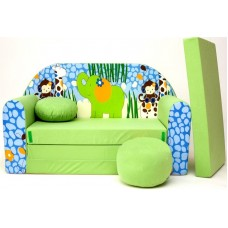 Gyerek kanapé - dzsungel/ zöld Előnézet