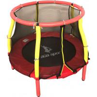 Aga gyerek trambulin védőhálóval 116 cm - Piros/sárga