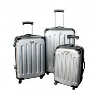 Linder Exclusiv LUXURY MC3001 Bőrönd szett S,M,L - ezüst