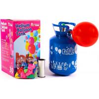 Aga4Kids PARTY 20 MIX Hélium palack 20 lufi felfújásához Kék/Zöld