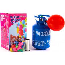 Aga4Kids PARTY 10 MIX Hélium palack 10 lufi felfújásához Kék/Zöld Előnézet