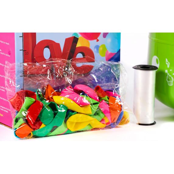 Aga4Kids PARTY 10 MIX Hélium palack 10 lufi felfújásához Kék/Zöld