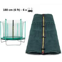 AGA belső védőháló 180 cm átmérőjű trambulinhoz 6 rudas - Zöld