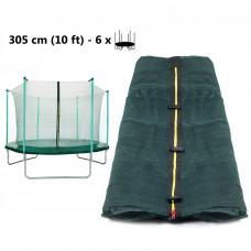 AGA belső védőháló 305 cm átmérőjű trambulinhoz 6 rudas - sötét zöld Előnézet