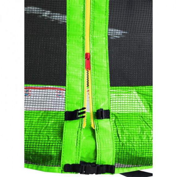 Külső védőháló 250 cm átmérőjű trambulinhoz 6 rudas AGA - Fekete/világos zöld