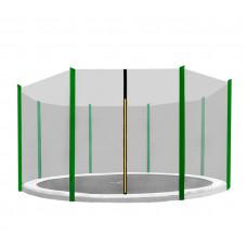 AGA védőháló 366 cm átmérőjű trambulinhoz 8 rudas - Sötét zöld Előnézet
