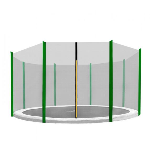 AGA védőháló 366 cm átmérőjű trambulinhoz 8 rudas - Sötét zöld