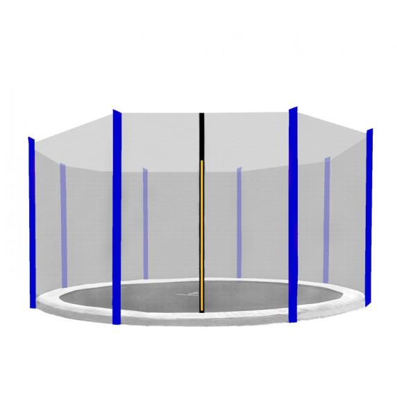 Külső védőháló 366 cm átmérőjű trambulinhoz 8 rudas AGA - Fekete/kék
