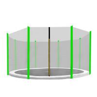 AGA védőháló 366 cm átmérőjű trambulinhoz 8 rudas - Világoszöld