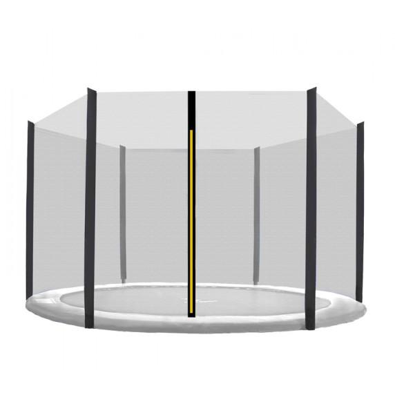 Külső védőháló 150 cm átmérőjű trambulinhoz 6 rudas AGA - Fekete