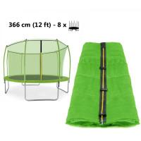 Belső védőháló 366 cm átmérőjű trambulinhoz 8 rudas - felső köríves AGA - Világos zöld