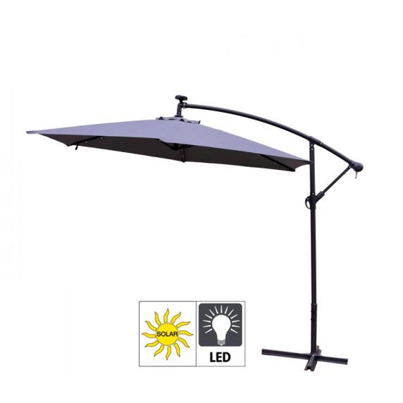 Aga EXCLUSIV 300 cm LED függő napernyő - Sötét szürke