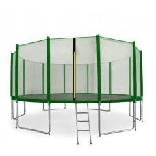 AGA SPORT PRO 460 cm trambulin + létra és cipőtartó - Sötét zöld