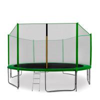 AGA SPORT PRO 430 cm trambulin + létra és cipőtartó - Sötét zöld