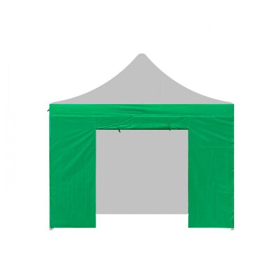 Aga oldalfal ajtóval POP UP 3x3 m - Zöld