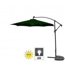 Aga EXCLUSIV 300 cm LED Dark Green függő napernyő Előnézet